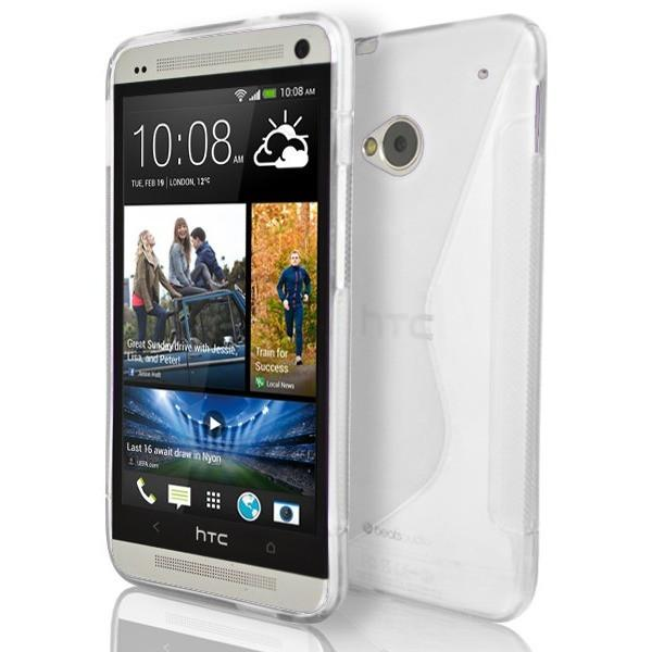 HTC One M7 - White S Line Gel Silicone Case