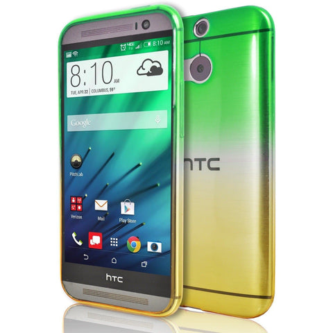 HTC One M9 - Luxury Fade TPU Silicone Case - Green Yellow