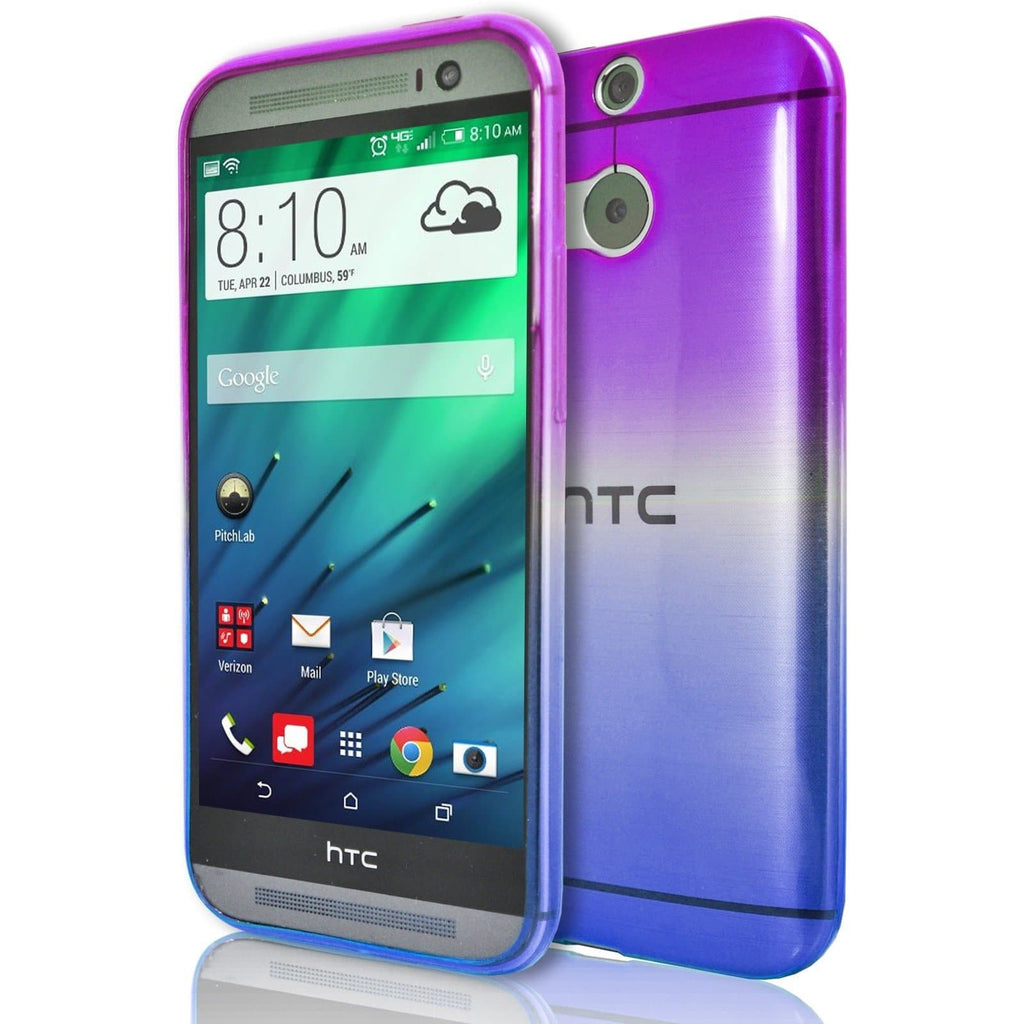 HTC Desire 728 - Luxury Fade TPU Silicone Case - Purple Blue