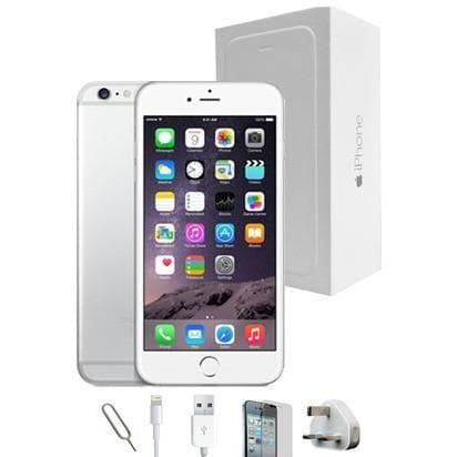 Mobile Phones - Apple iPhone 6S Plus (128GB) - White/Silver - Unlocked - Grade A Full Bundle