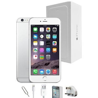 Mobile Phones - Apple IPhone 6 Plus (128GB) - White/Silver - Unlocked - Grade A Full Bundle