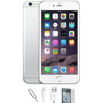 reconditioned iphone 6 plus 64gb white silver unlocked grade a. Black Bedroom Furniture Sets. Home Design Ideas