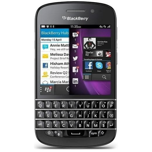 Mobile Phones - BlackBerry Q10 - Black - Unlocked