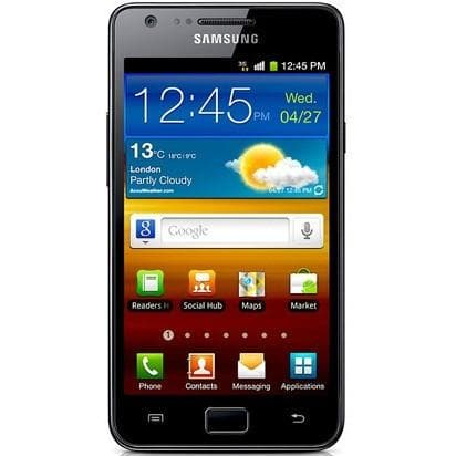 Mobile Phones - Samsung Galaxy S2 (16 GB) - Black - Unlocked