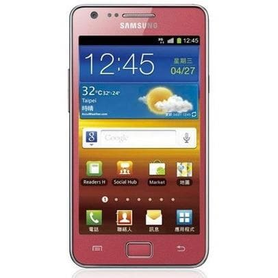 Samsung Galaxy S2 - Coral Pink - (16GB) - Unlocked - Good Condition
