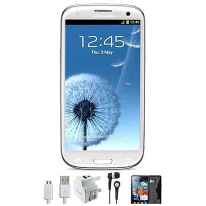 Mobile Phones - Samsung Galaxy S3 (16GB) - Marble White - Unlocked - Grade A