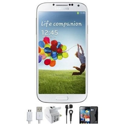 Mobile Phones - Samsung Galaxy S4 (16GB) - White Marble - Unlocked