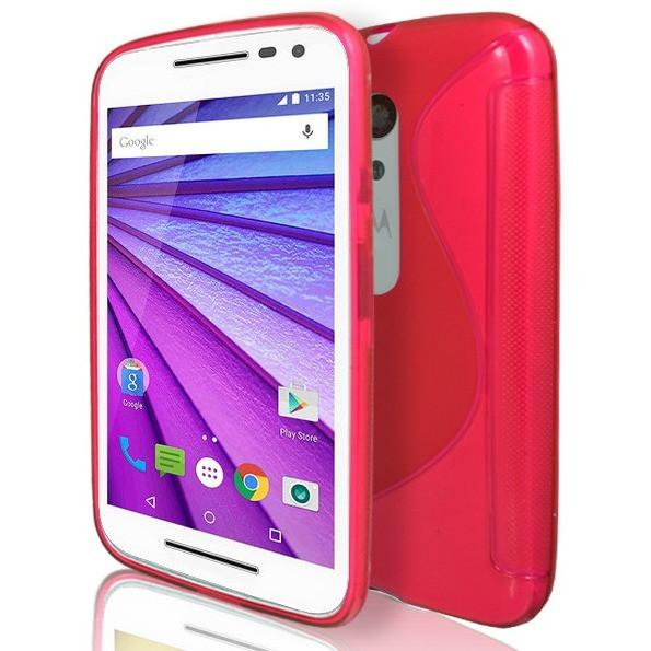 Moto G3 - Red S Line Gel Silicone Case