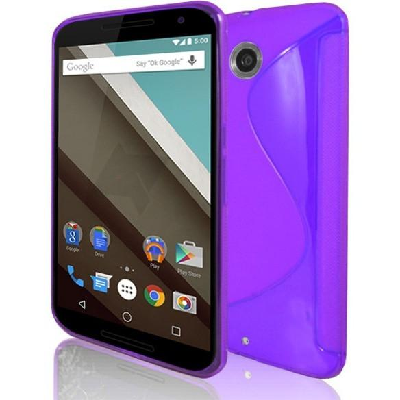Motorola Nexus 6 - Purple S Line Gel Silicone Case