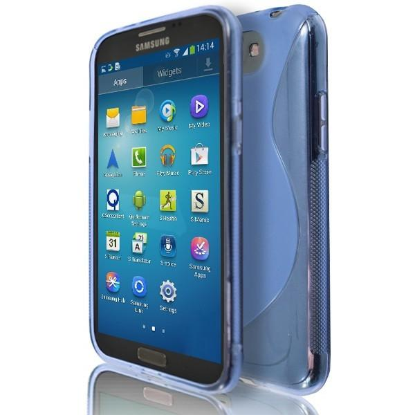 Samsung Galaxy Note 2 N7100 - Blue S Line Silicone Case Cover