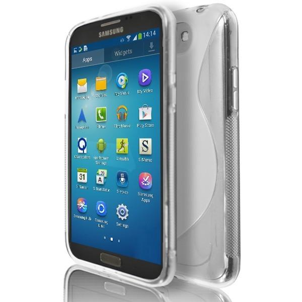 Samsung Galaxy Note 2 N7100 - Clear S Line Silicone Case Cover