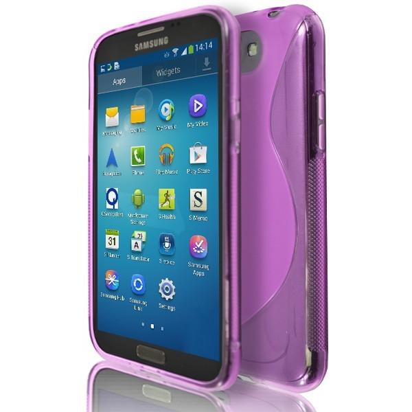 Samsung Galaxy Note 2 N7100 - Pink S Line Silicone Case Cover