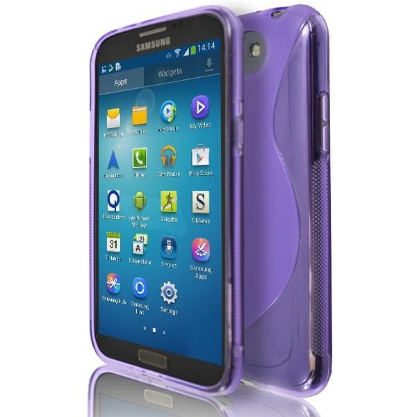 Samsung Galaxy Note 2 N7100 - Purple S Line Silicone Case Cover