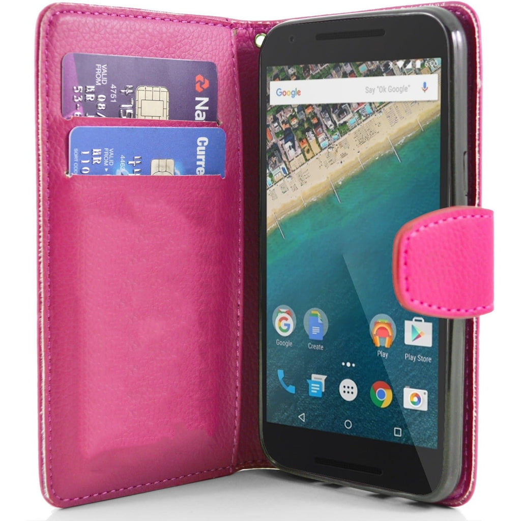 LG K7/K8 PU Leather Wallet Case - Pink