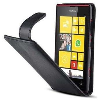 Black Flip Leather Case For Nokia Lumia 520