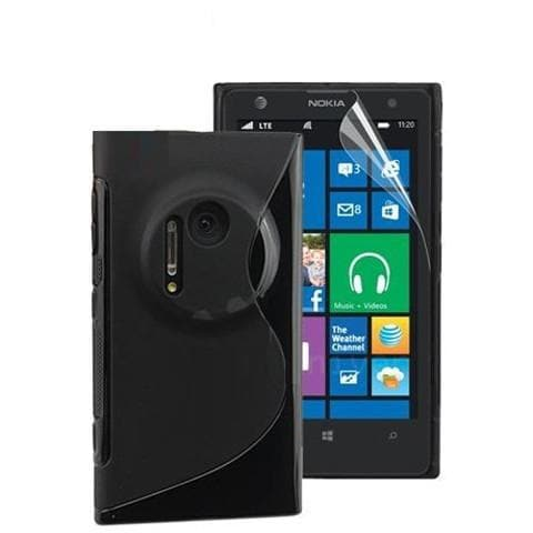 Nokia Cases - Black S Line Silicone Case Cover For Nokia Lumia 920  + Screen Protector + Stylus Pen