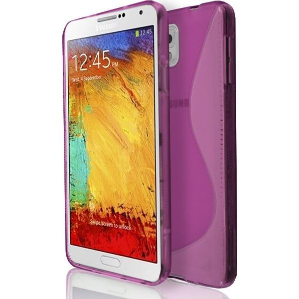Samsung Galaxy Note 3 N9000 - Pink S Line Gel Silicone Rubber Case Cover