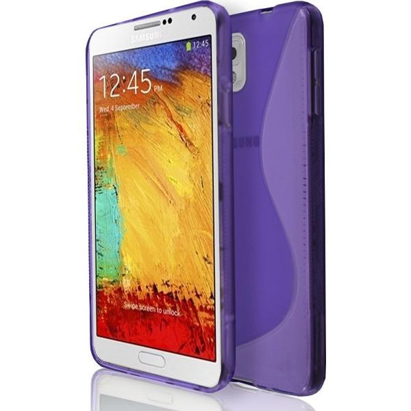 Samsung Galaxy Note 3 N9000 - Purple S Line Gel Silicone Rubber Case Cover