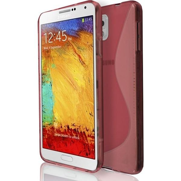 Samsung Galaxy Note 3 N9000 - Red S Line Gel Silicone Rubber Case Cover