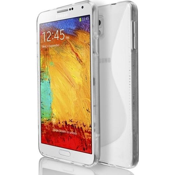 Samsung Galaxy Note 3 N9000 - White S Line Gel Silicone Rubber Case Cover