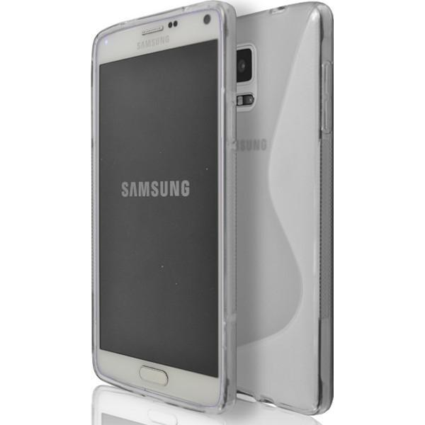 Samsung Galaxy Note 4 N9000 - Clear S Line Silicone Case Cover