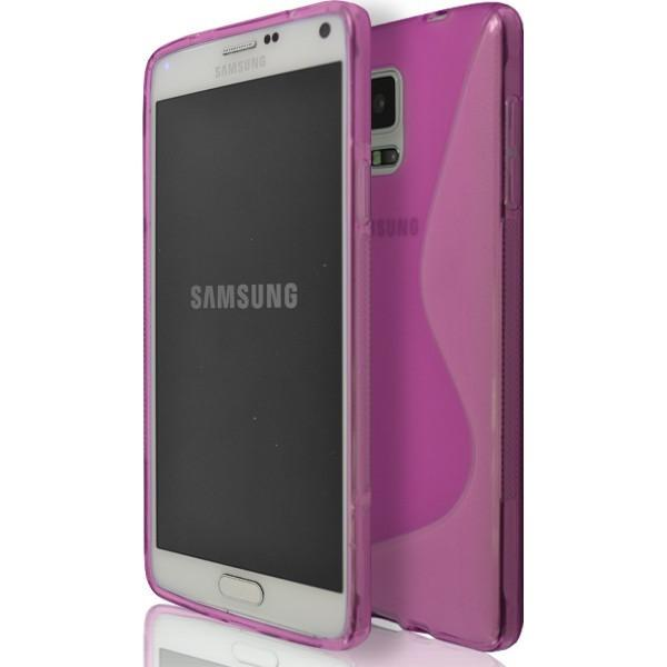 Samsung Galaxy Note 4 N9000 - Pink S Line Silicone Case Cover