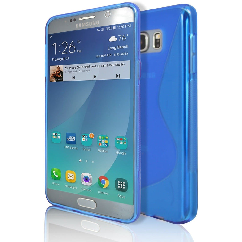 Samsung Galaxy Note 5 - Blue S Line Case Cover
