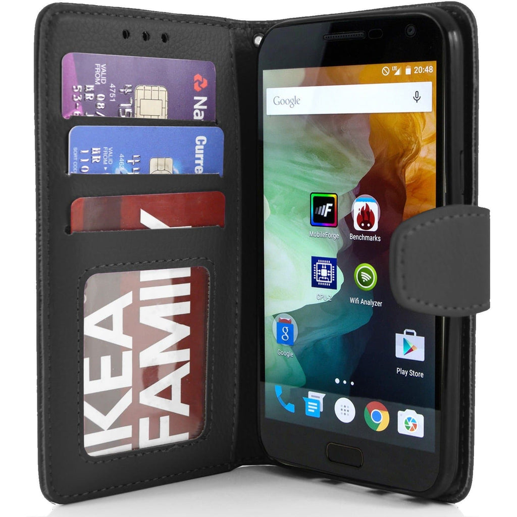 OnePlus 2 PU Leather Wallet Case - Black