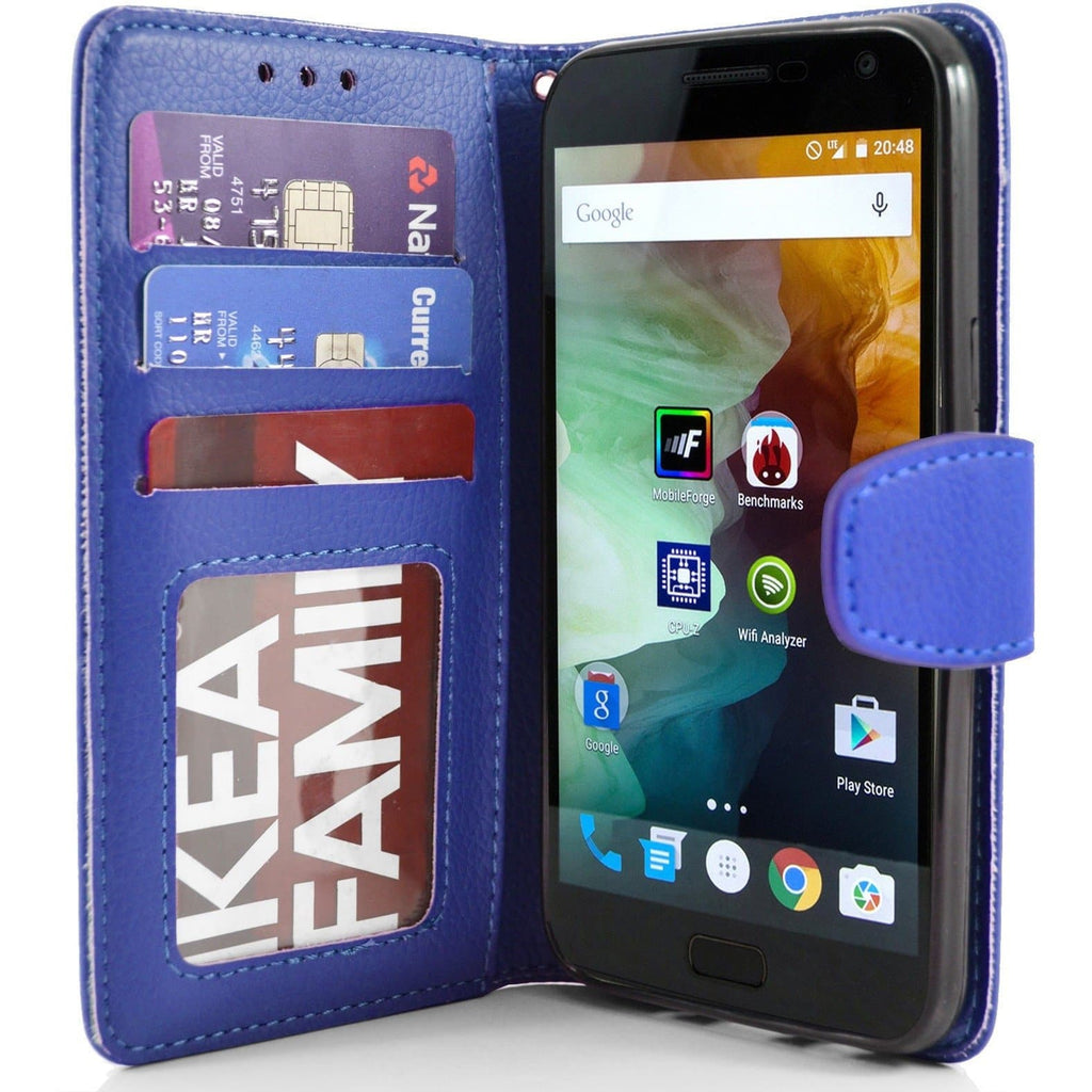 OnePlus 2 PU Leather Wallet Case - Blue