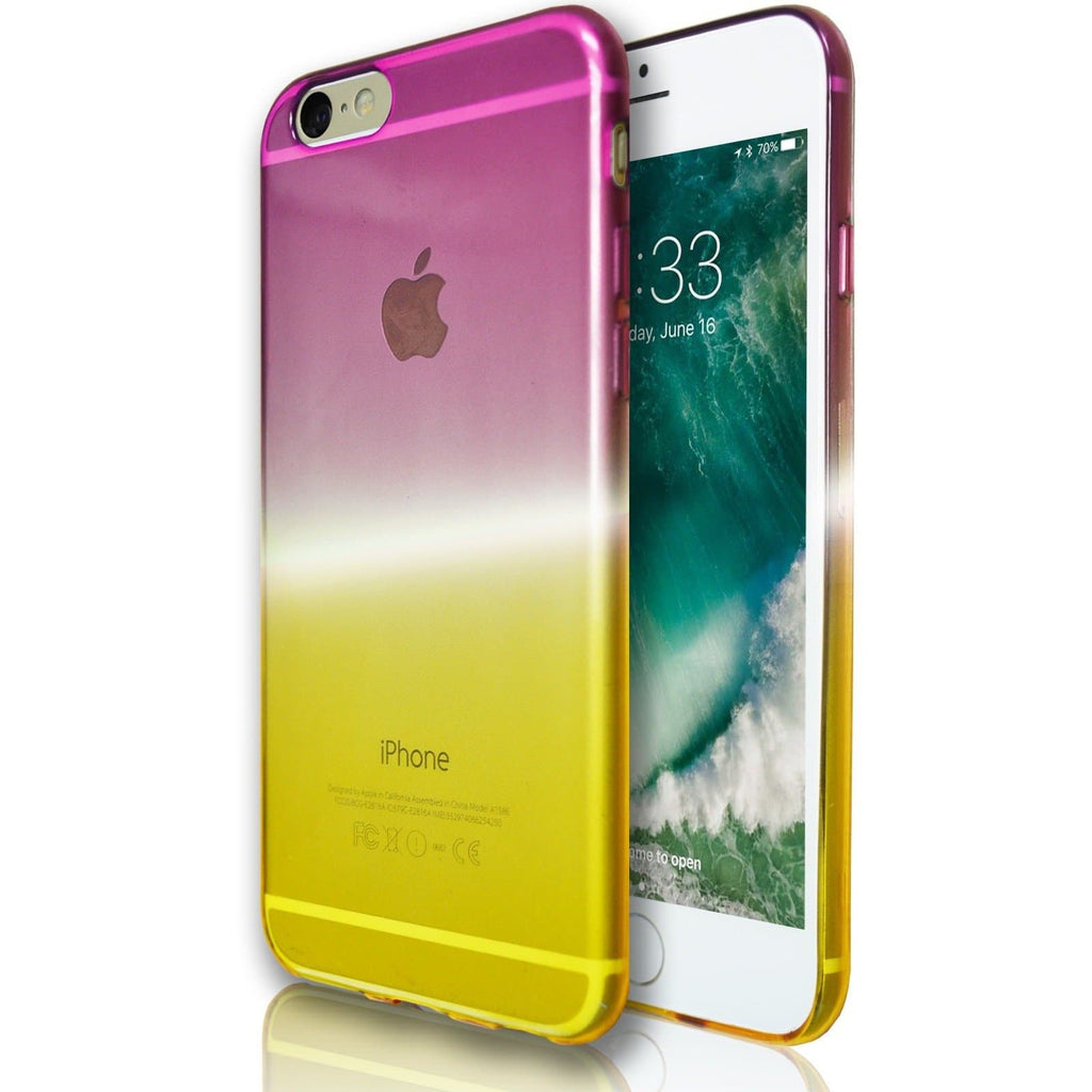 iPhone 6 / 6S Luxury Slim Fit Fade Case - Pink / Yellow