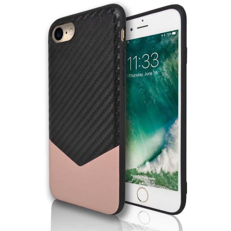 Apple iPhone 7 Plus Chevron Protective Silicone Case - Rose Gold