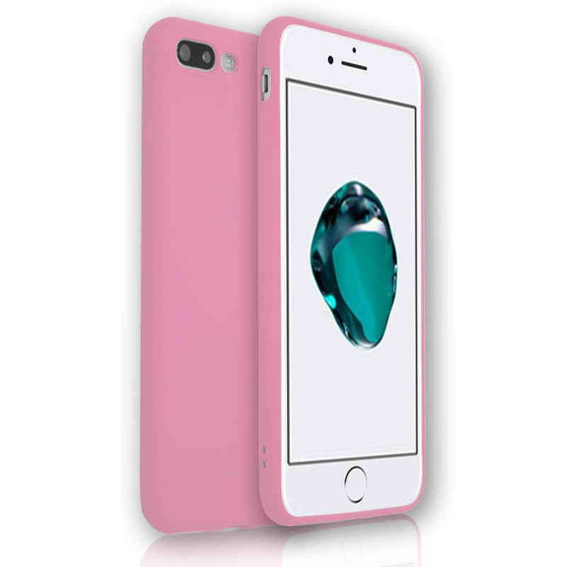 Apple iPhone 8 Plus - Soft Touch Silicone Rear Surround Case - Pink