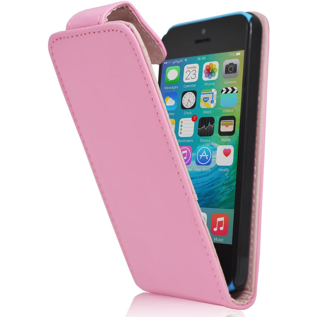 iPhone 5C - Luxury Ultra Slim Magnetic Leather Flip Case Stand - Pink