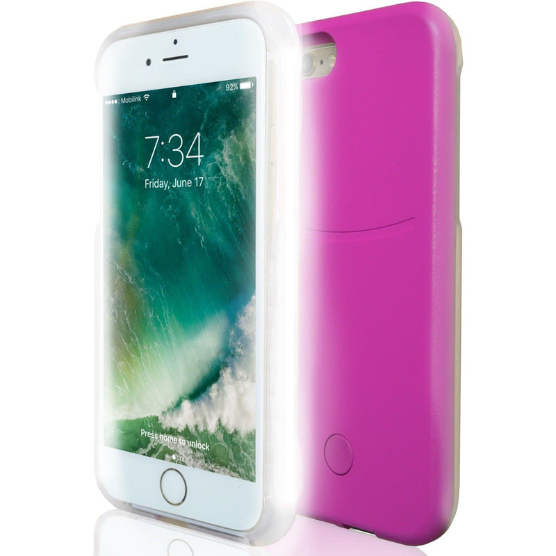 Apple iPhone 6 / 6S Luxury LED Selfie Light Up Case - Pink