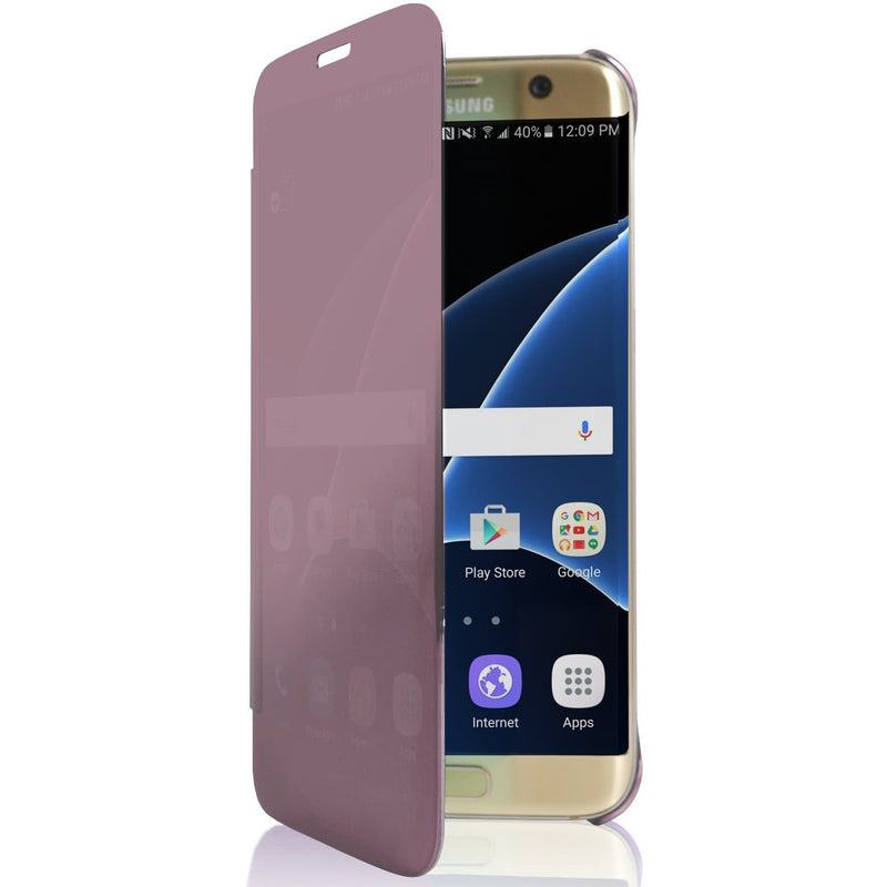 Samsung Galaxy S6 Edge Mirror View Plastic Case - Pink