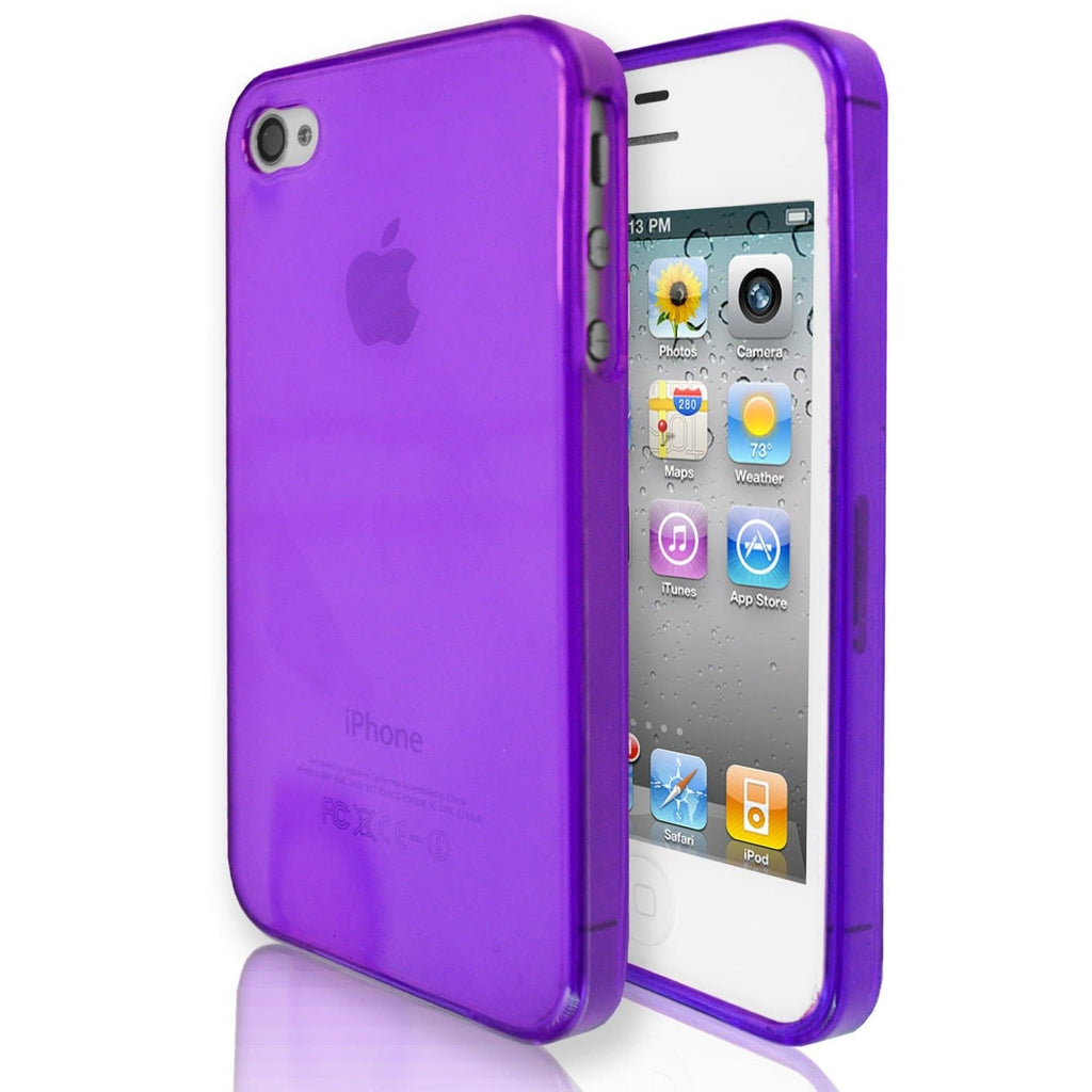 iPhone 4 / 4S -  Hydro Gloss Gel Silicone Case - Purple