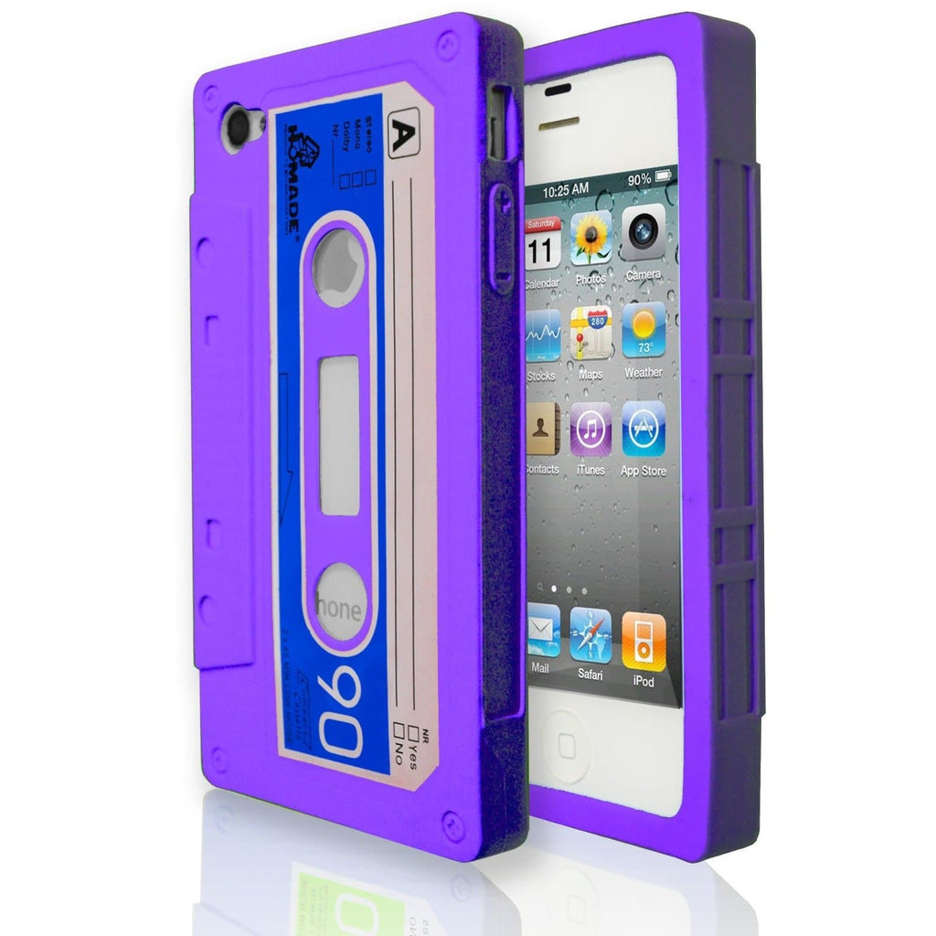 iPhone 4 / 4S - Vintage Retro Cassette Tape Case - Purple