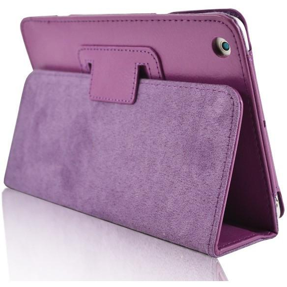 iPad 2 / 3 / 4 - Flip Stand Protective Leather Case - Purple