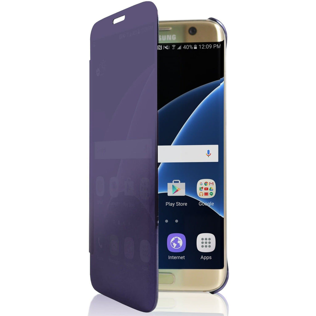 Samsung Galaxy S6 Edge Mirror View Plastic Case - Purple