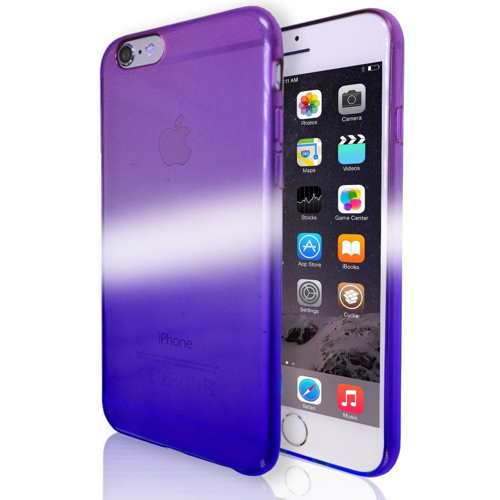iPhone 6 / 6S Luxury Slim Fit Fade Case - Purple / Blue