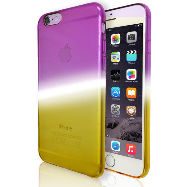 iPhone 6 / 6S Luxury Slim Fit Fade Case - Purple / Yellow
