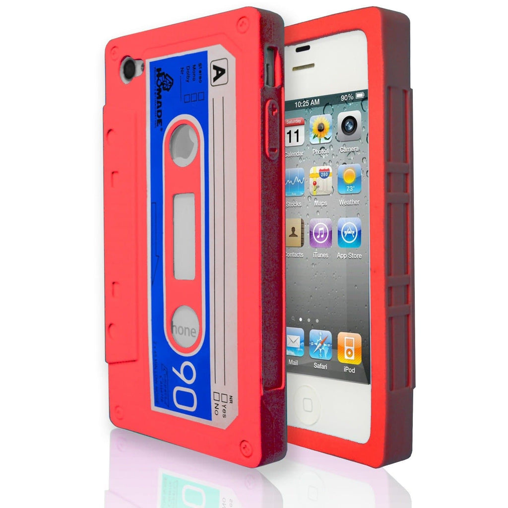 iPhone 5 / 5S / SE - Vintage Retro Cassette Tape Case - Red