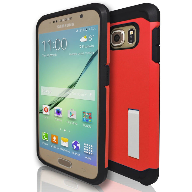 Samsung Galaxy S6 Edge Silicone Armour Case - Red