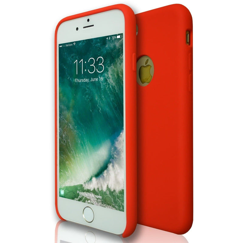 Apple iPhone 7 - Hydro Gel Soft Silicone Protective Case - Red