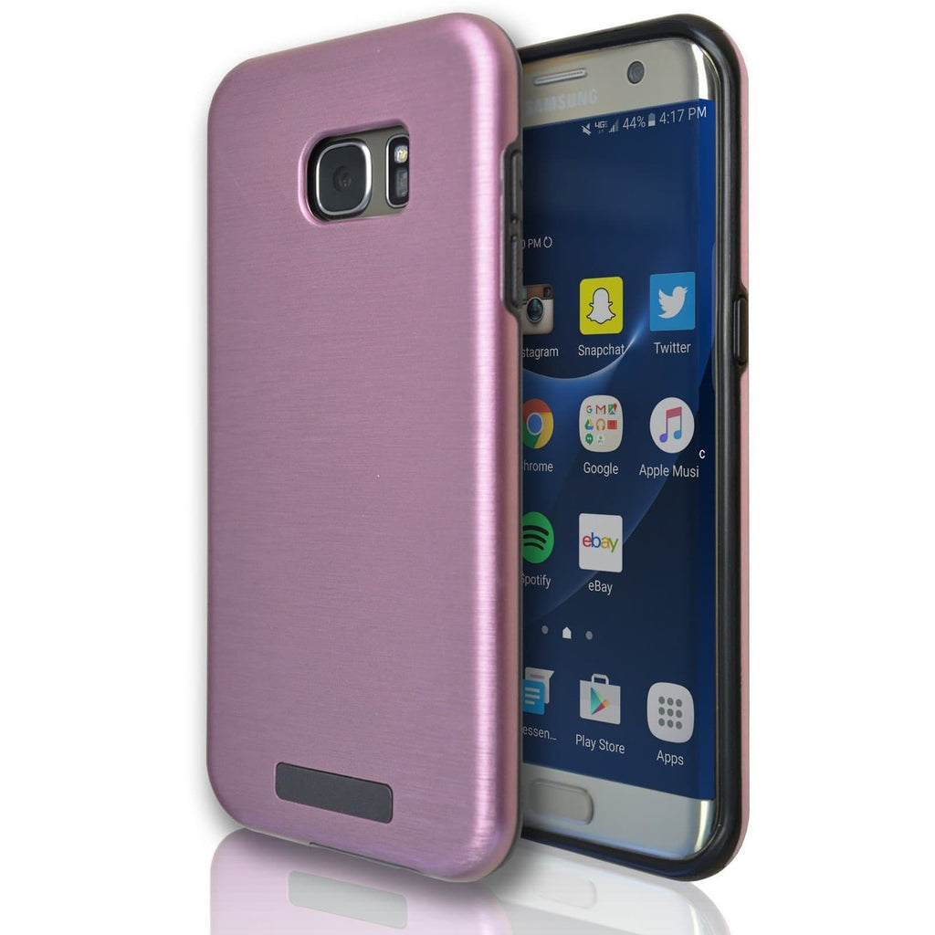 Samsung Galaxy S7 Edge Protective Brushed Silicone Case - Rose Gold
