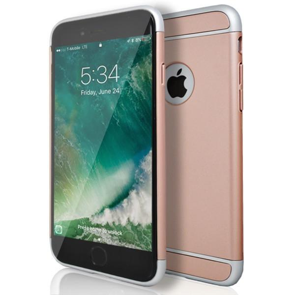 iPhone 6 / 6S - Super Slim Protective Case With Hole For Apple Logo - Rose Gold