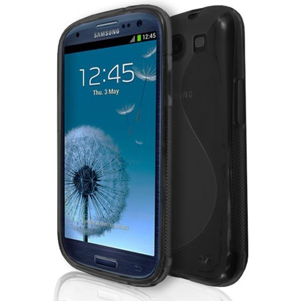 Samsung Galaxy S3 (I9300) - Black S Line Gel Silicone Rubber Case Cover