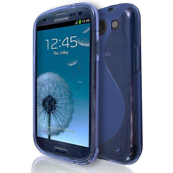 Samsung Galaxy S3 (I9300) - Blue S Line Gel Silicone Rubber Case Cover