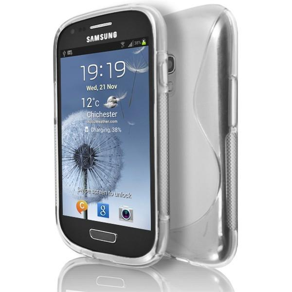 Samsung Galaxy S3 Mini (I8190) - Clear S Line Gel Silicone Rubber Case Cover