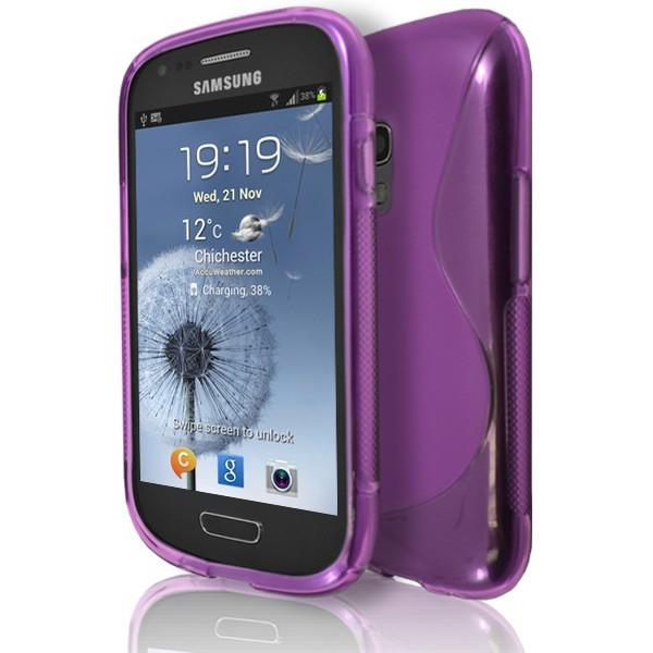 Samsung Galaxy S3 Mini (I8190) - Pink S Line Gel Silicone Rubber Case Cover